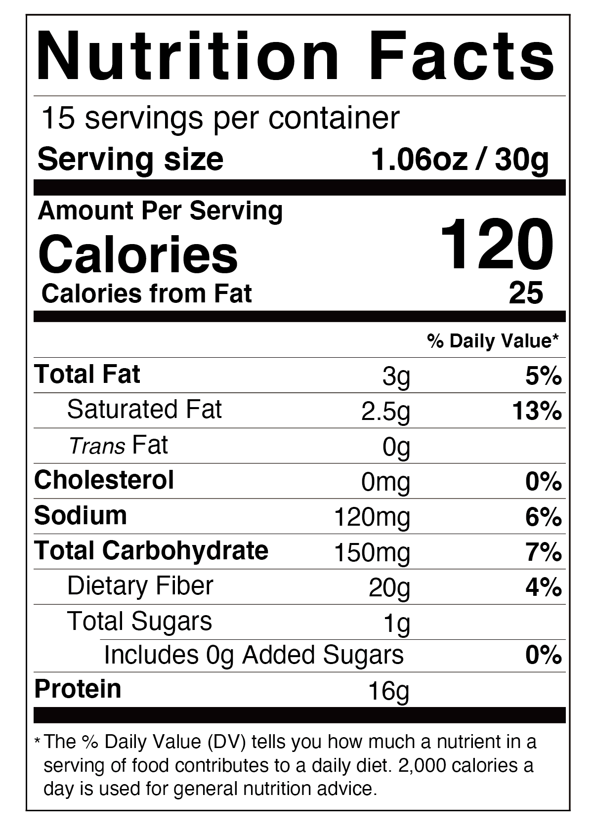 Divine Cereal nutrition facts